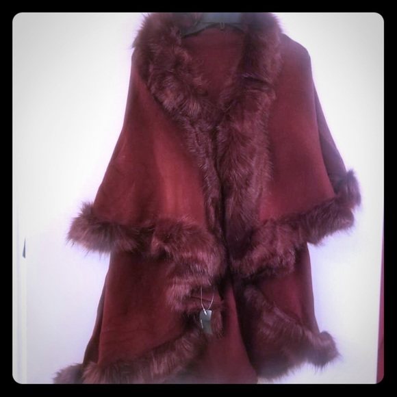 Jackets & Blazers - Faux Fur Shaw - Multiple colors Available